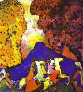 Kandinsky, The blue montain, 1908-09
