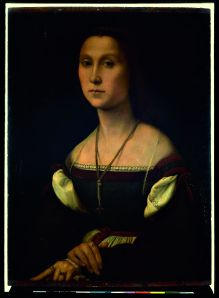 Raffaello, ritratto di donna, la muta