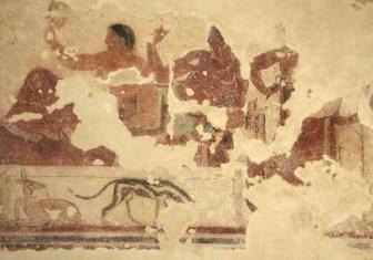 Tarquinia, Tomba della scrofa nera 450a.C circa