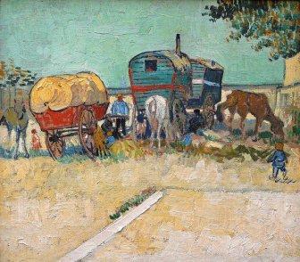 Van Gogh, la carovana degli zingari vicinoad Arles (1988)