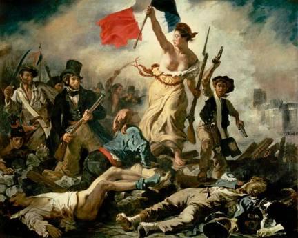 Delacroix, il 28 luglio, la libertà guida il popolo (1831)
