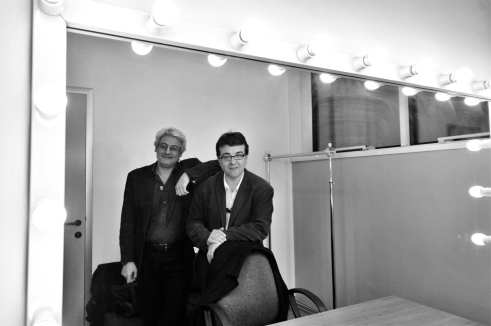 Javier Cercas con Bruno Arpaia