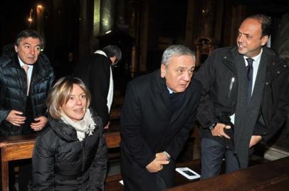 Lorenzi, Sacconi e Alfano in Chiesa