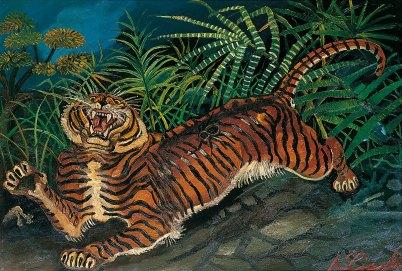 Antonio Ligabue, Tigre con ragno (1953)