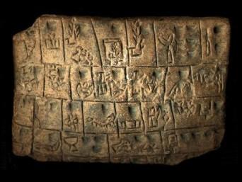 Uruk, tavoletta  con scrittura cuneiforme IV secolo a.C
