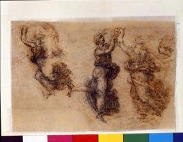 Leonardo tre figure femminili danzanti