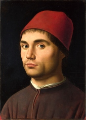 Antonello da Messima, ritratto di giovane (1475-8)