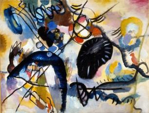 Kandinsky, macchia nera, 1912