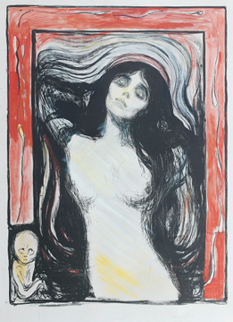 Munch Madonna, incisione