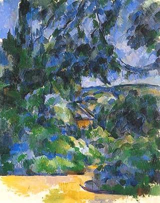 Cézanne, Paesaggio blu