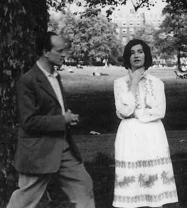 Edna O'Brien con il marito Ernst