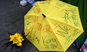 Pro-democracy protestor's umbrella, Hong Kong