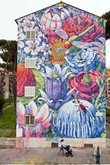 SanBa, street art a San basilio-Roma