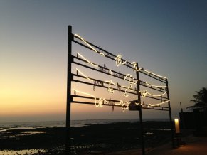 Shilpa Gupta_I live under your sky too_animated light installation